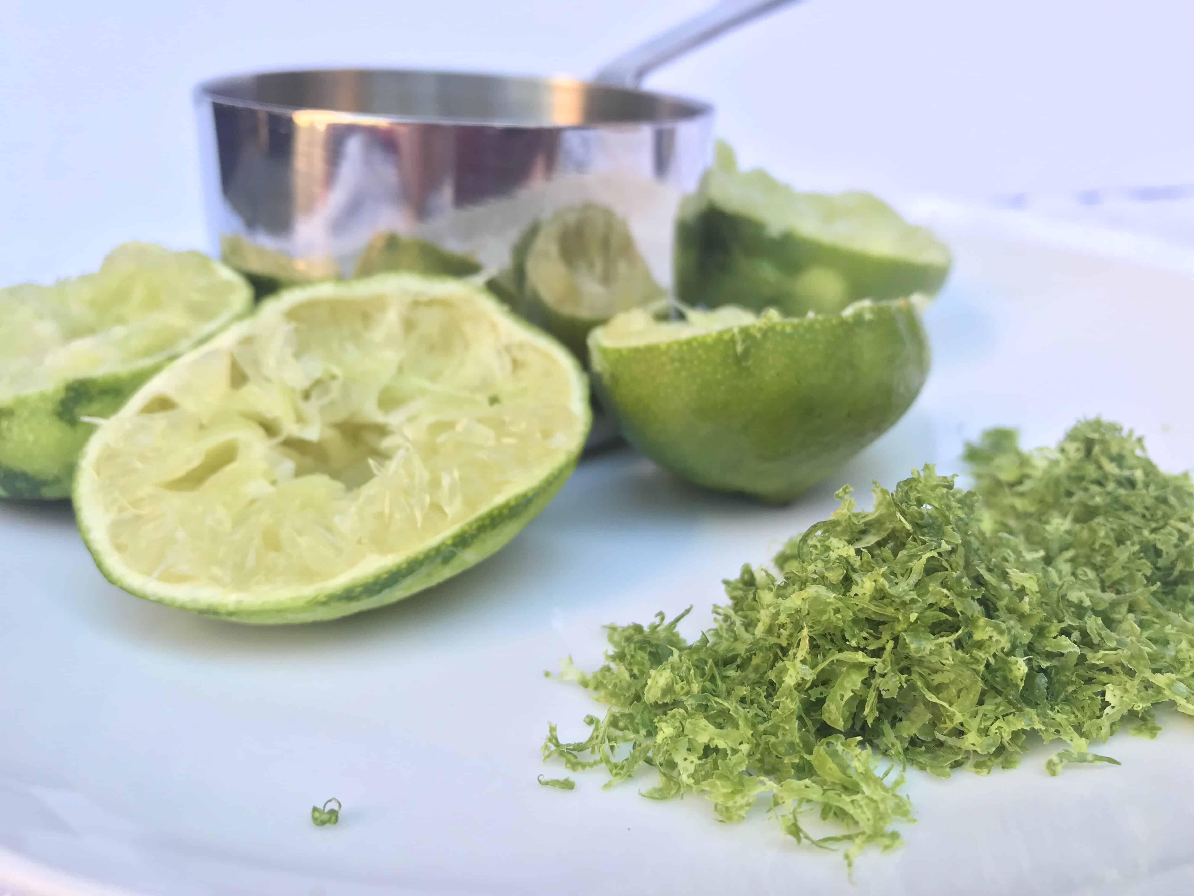 ingredients for coconut lime sorbet