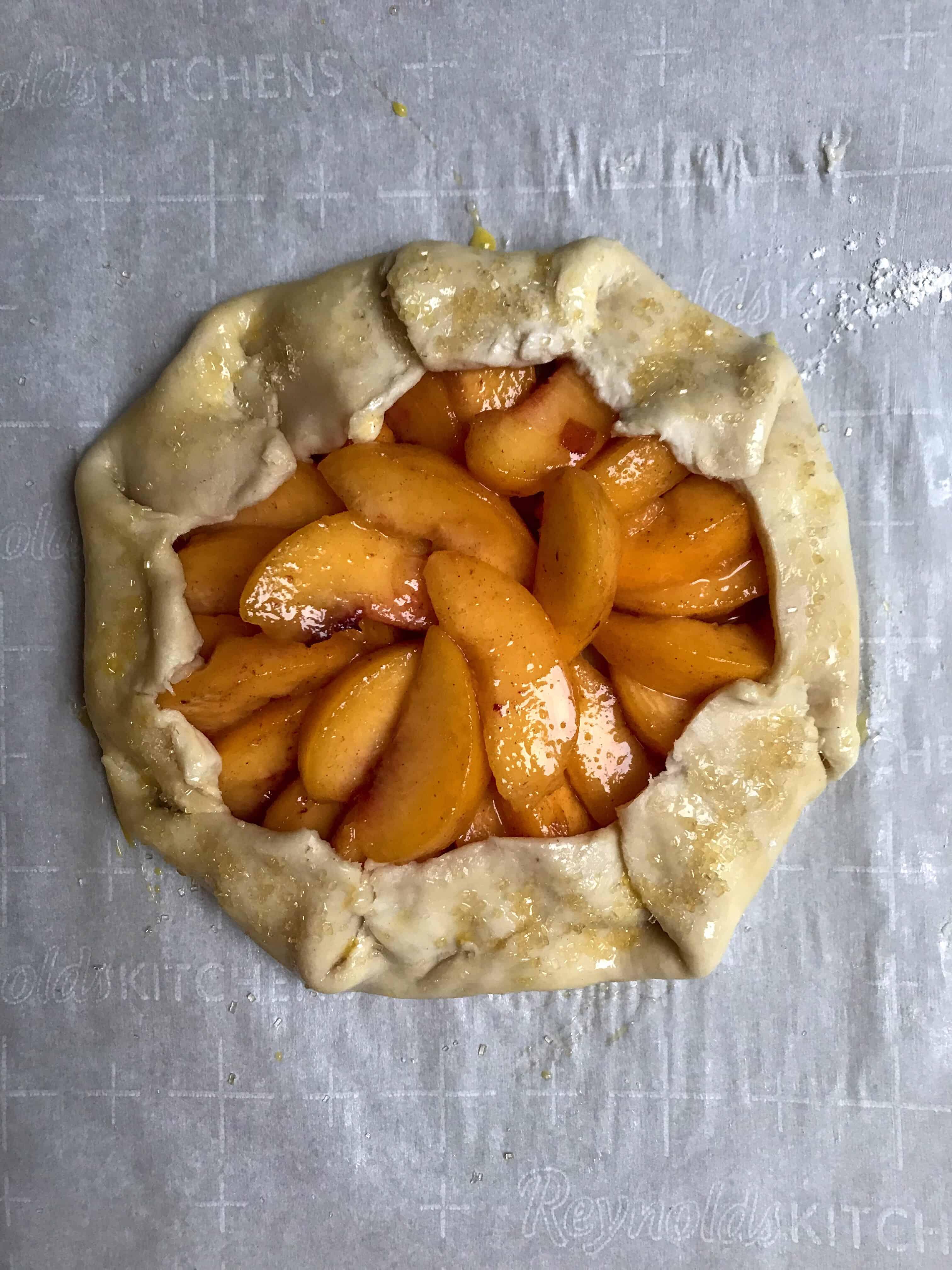 pre-baked peach galette