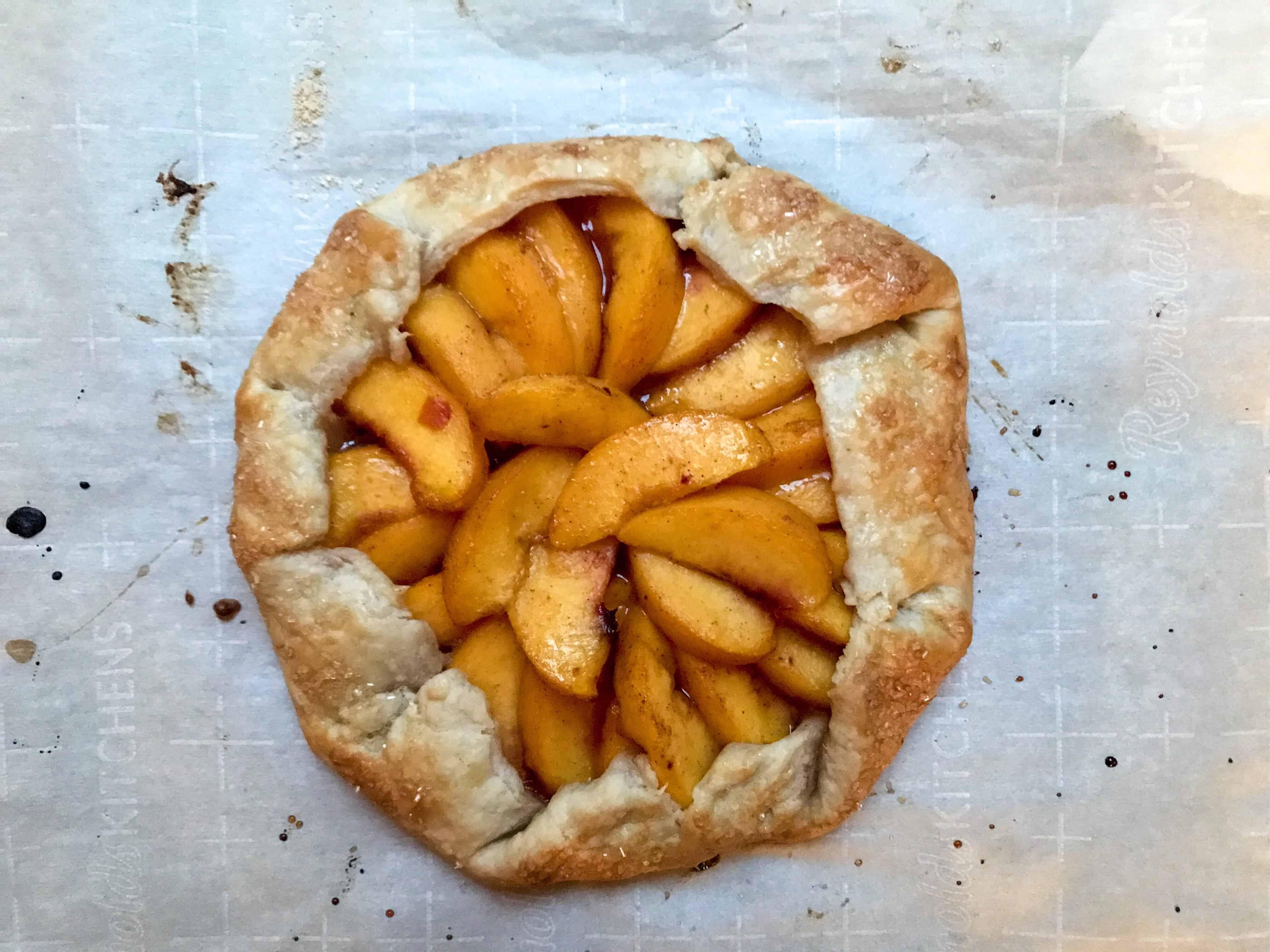 perfect peach galette