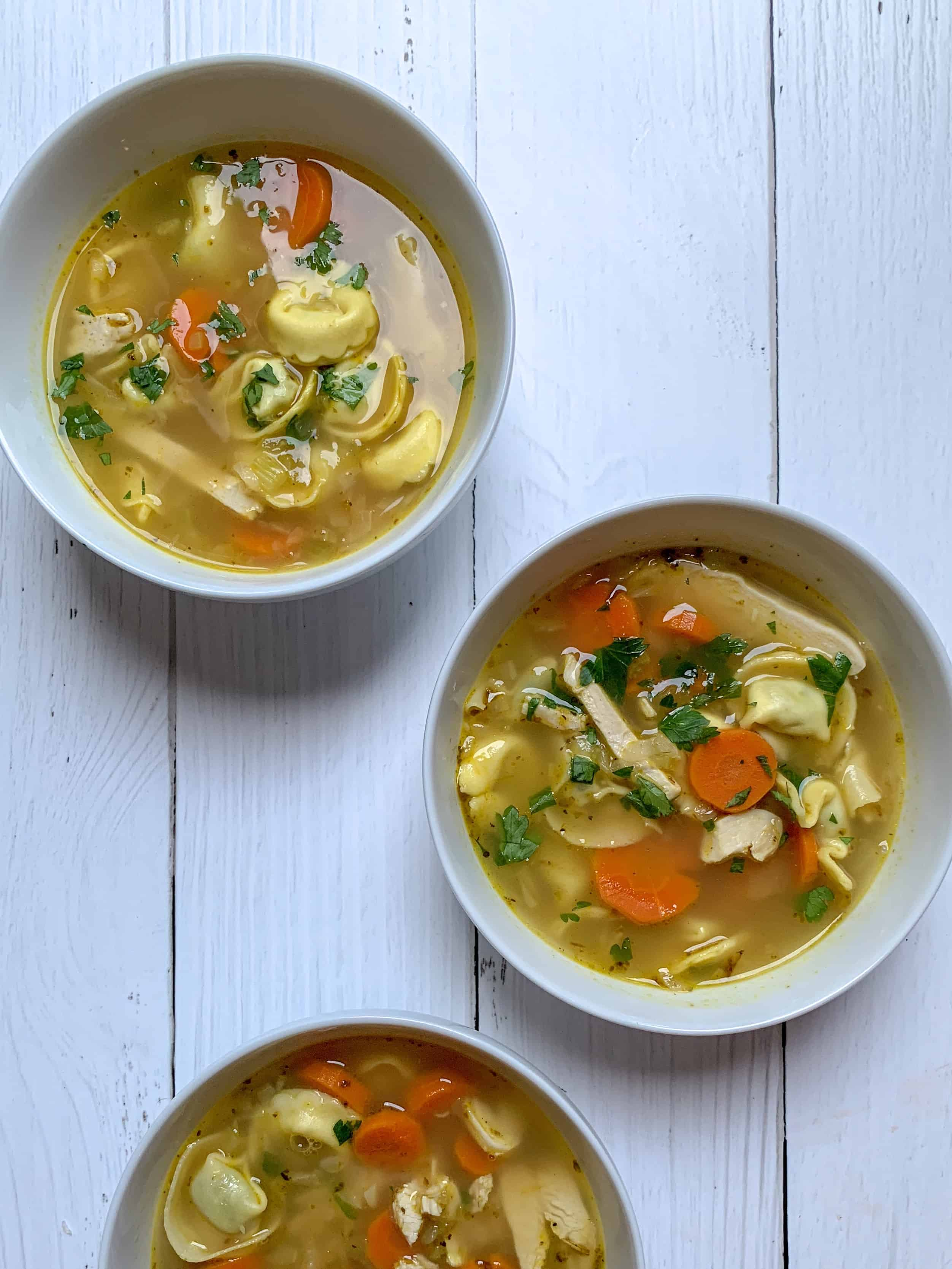 soup in bowls