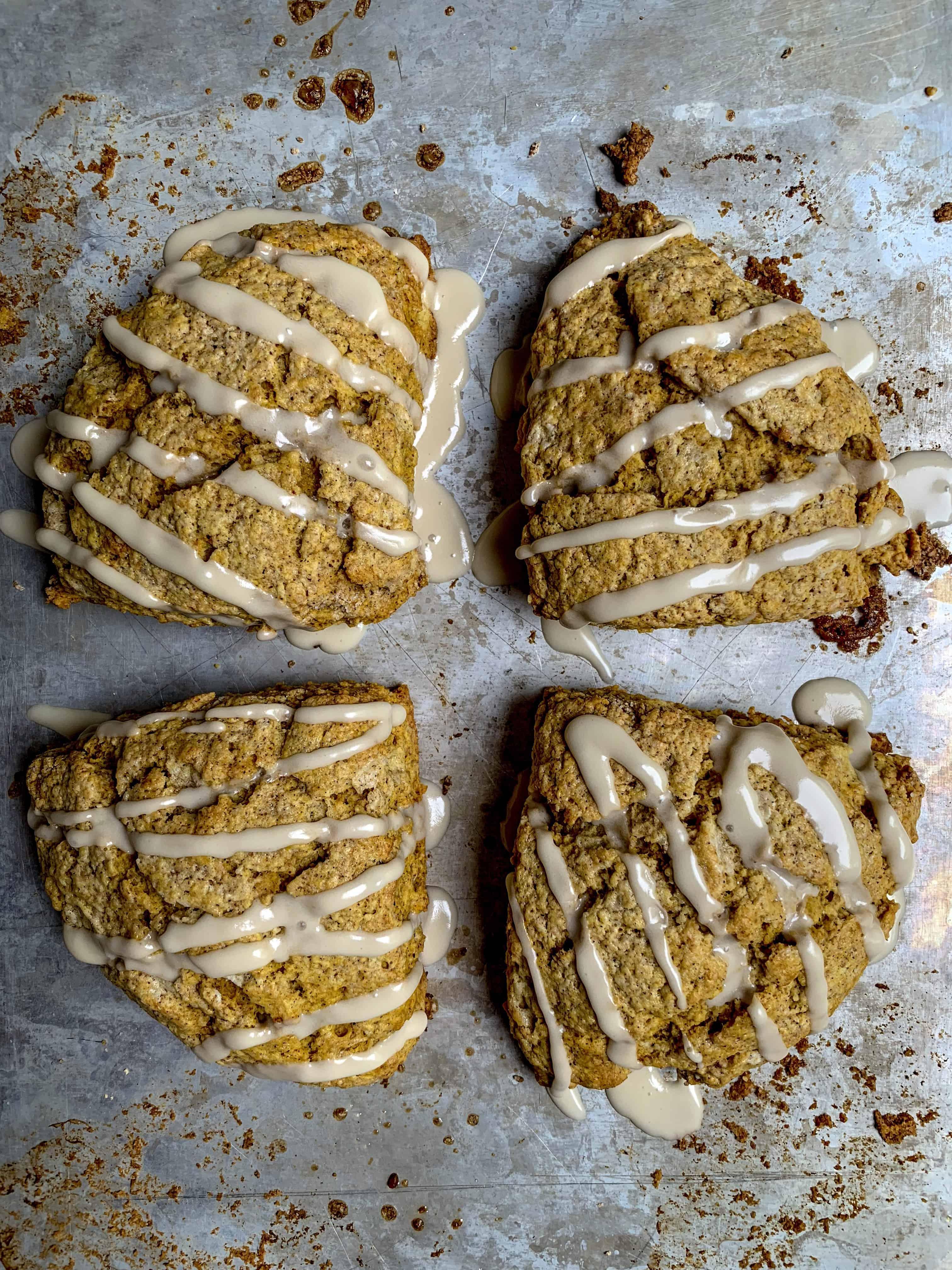 four pumpkin scones