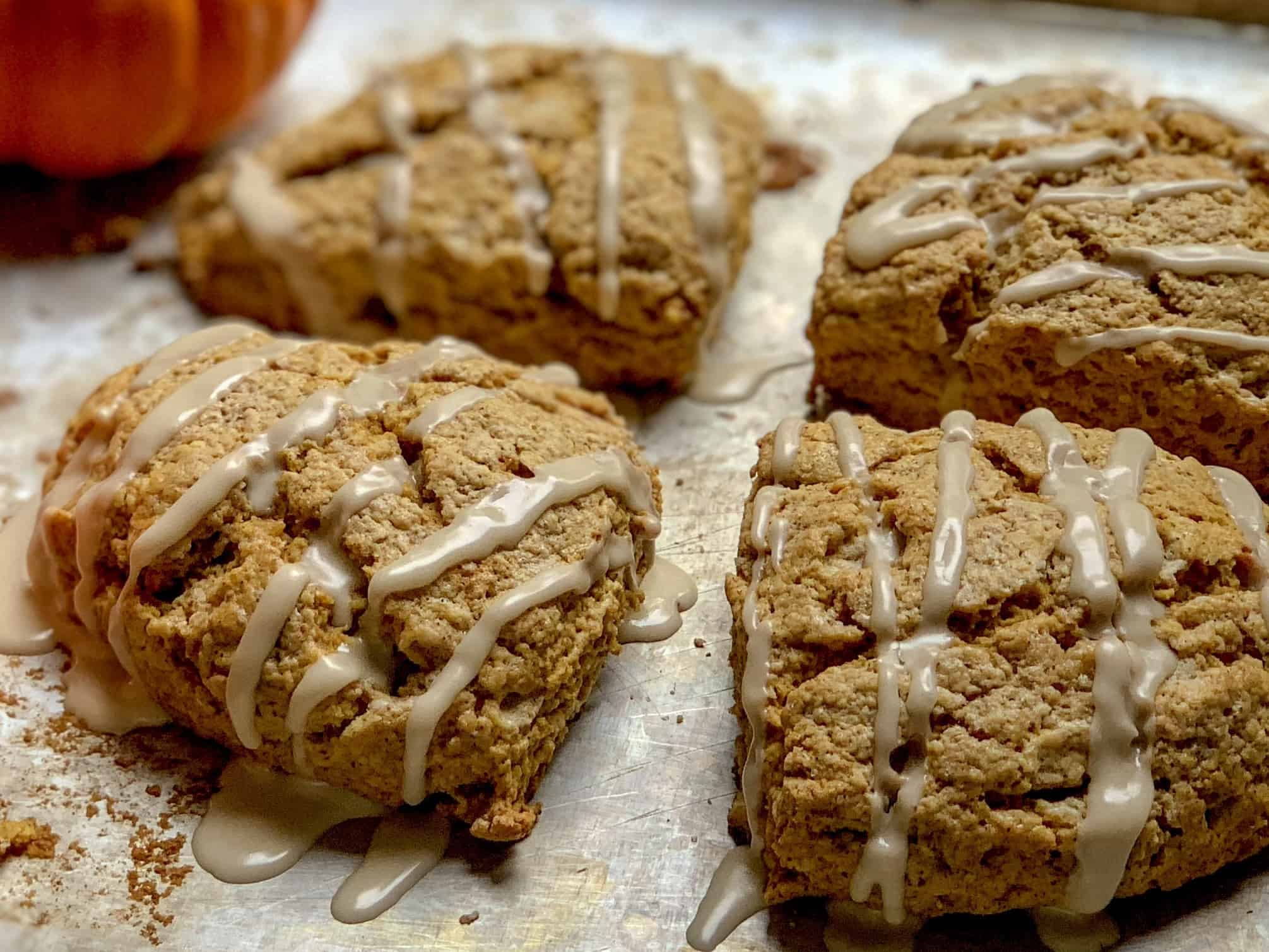 up close and personal pumpkin scones
