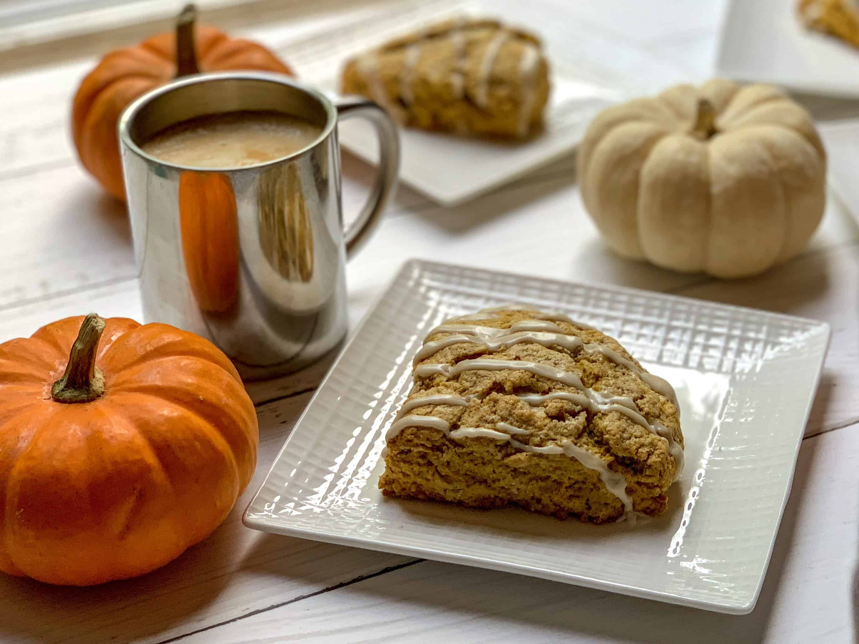 coffee and pumpkin scones