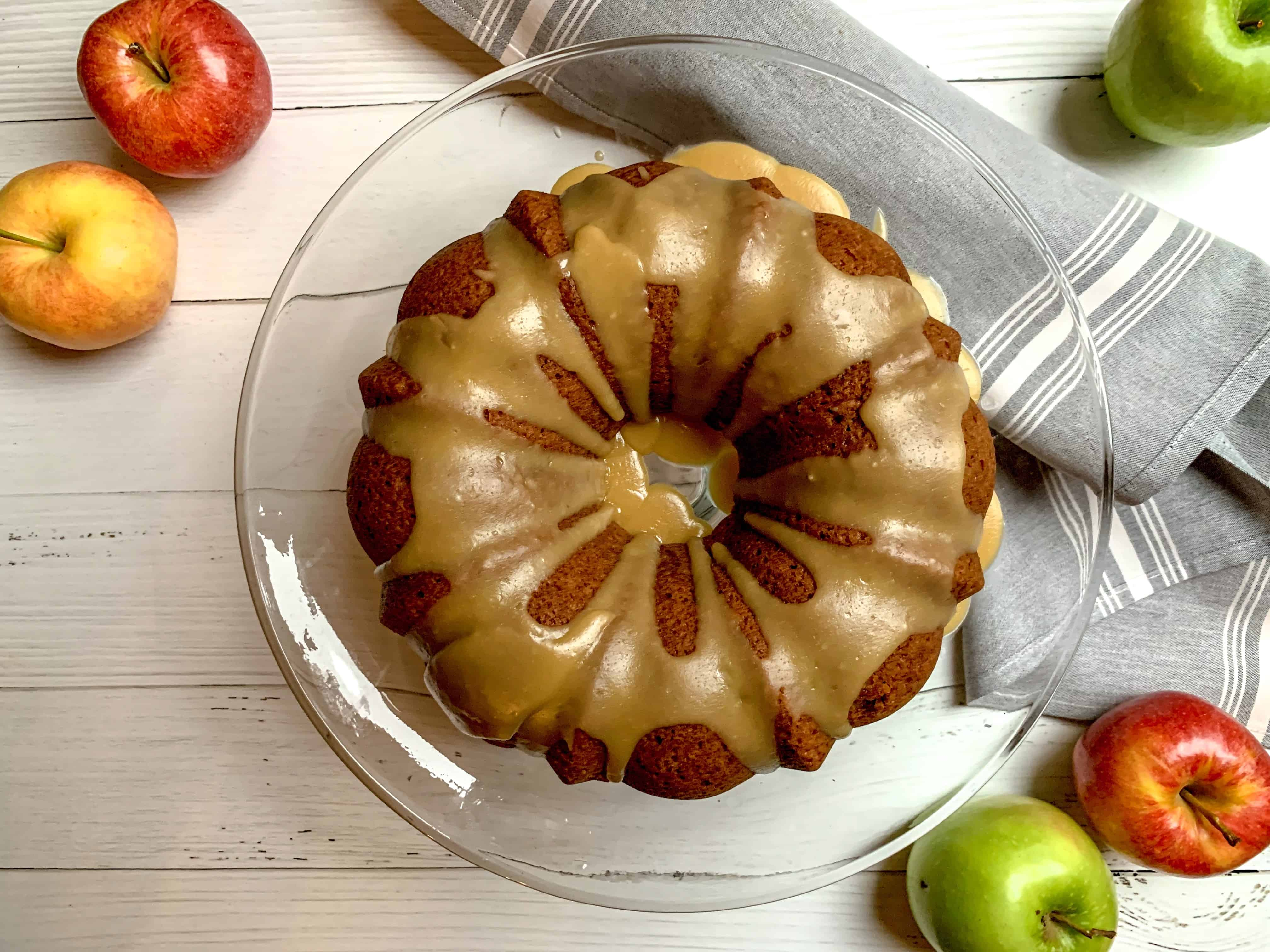 look how pretty this bundt cake is?