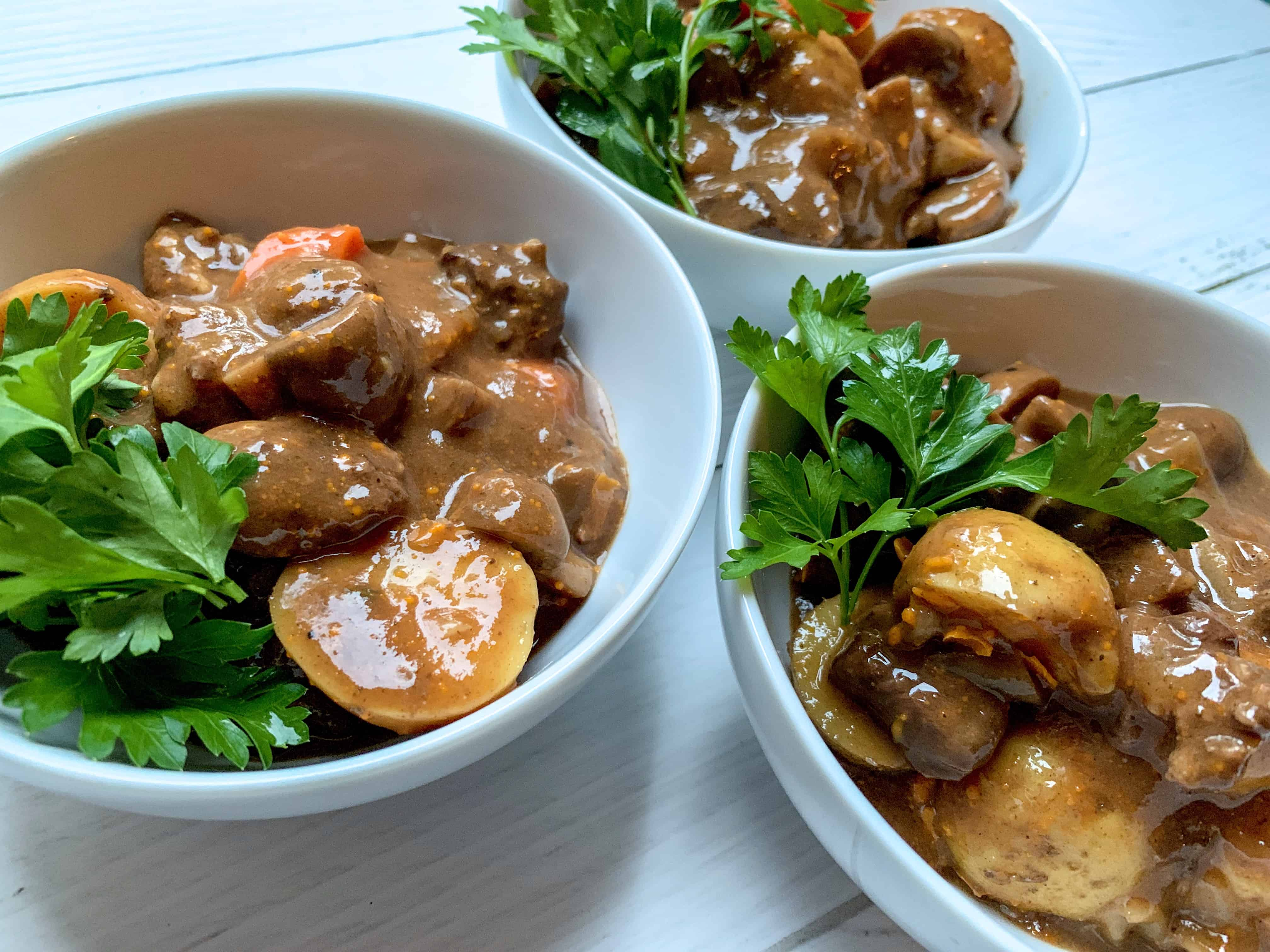 Beef Stew with Carrots, Potatoes, and Mushrooms   Worn Slap Out