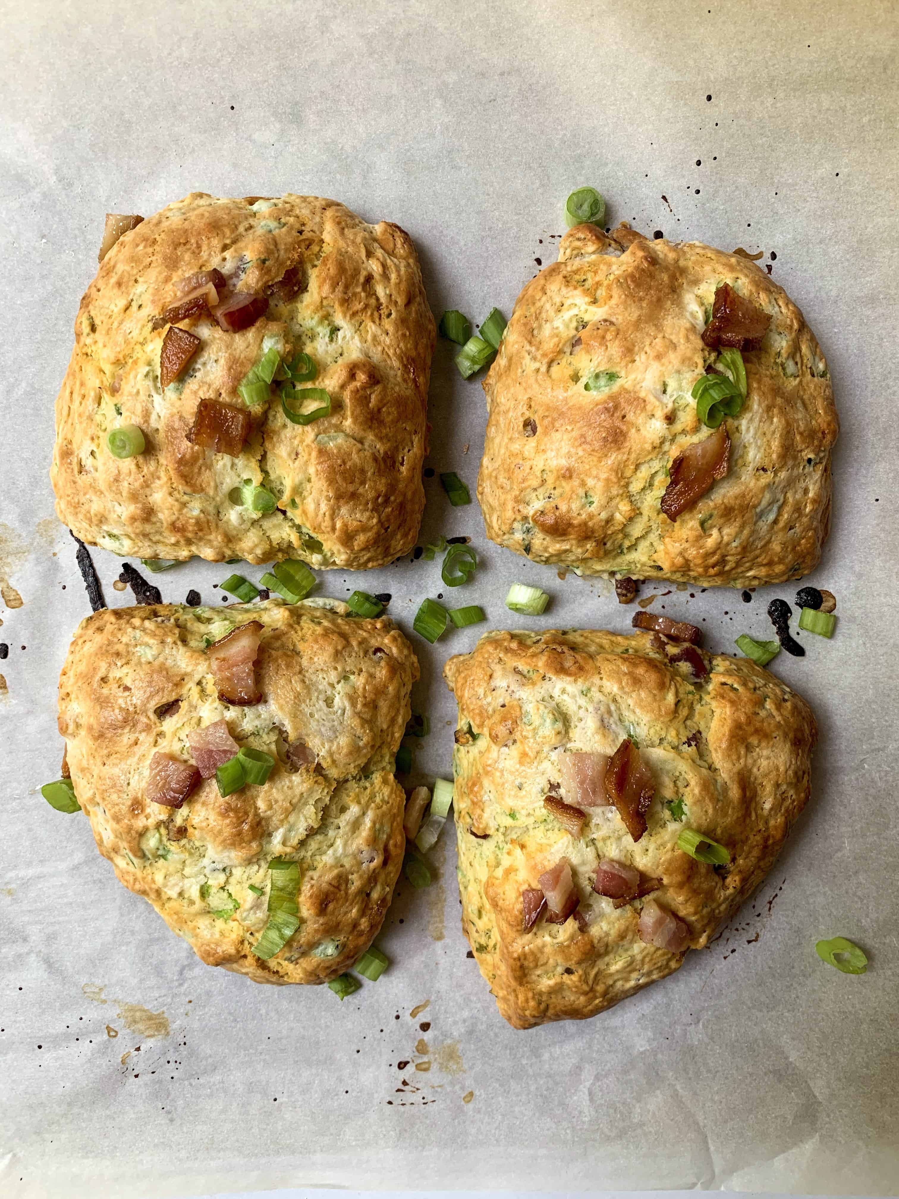 bacon and scallion buttermilk biscuits