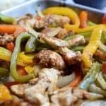 easy sheet pan chicken fajitas
