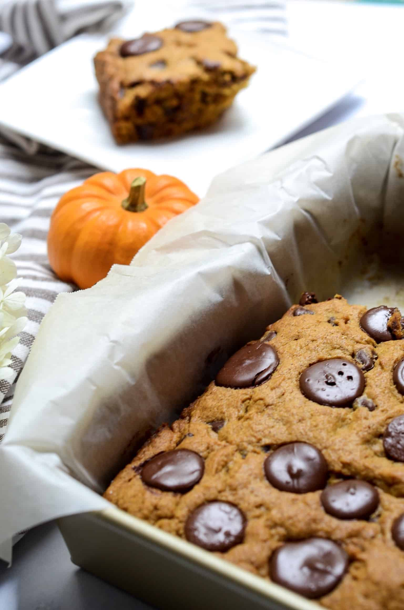 pumpkin bars are a hybrid between cake and a brownie