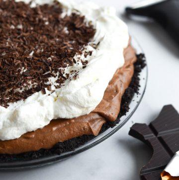 chocolate espresso silk pie