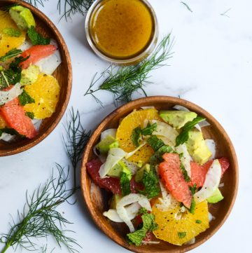 citrus avocado fennel salad